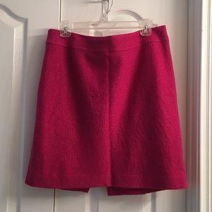 Banana Republic Hot Pink Wool Skirt Orange Lining